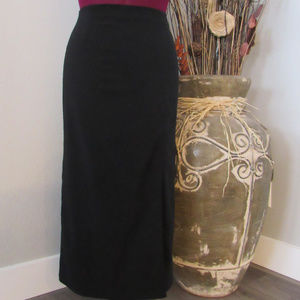 Fashion Bug Black Mid Calf Pencil Skirt size 8